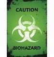 Biohazard logo design Biohazard poster Grunge vector image vector image