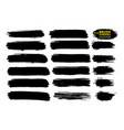 black ink brush strokes thin dirty vector image vector image