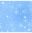 Blue background of snowflakes vector image vector image
