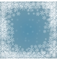 blue background with frame snowflakes vector image vector image