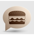 Burger simple sign Brown gradient icon on bubble vector image vector image