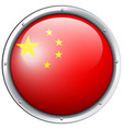 china flag design on round badge vector image