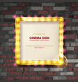 cinema golden square frame vector image vector image