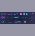 color dashboard ui ux kit vector image vector image