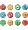 Colored icons for neurosurgery vector image vector image