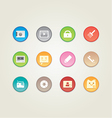 Colorful web and mobile icons vector image vector image