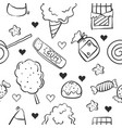 doodle of candy sweet design style vector image vector image