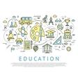 education horizontal concept vector image vector image