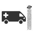emergency van icon with work bonus vector image vector image