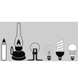 evolution lighting lamp vector image vector image
