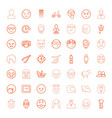 face icons vector image vector image