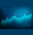 finance chart stock graph market growth business vector image