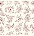 floral print seamless pattern botanical vector image vector image