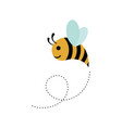 funny bee cute bee and honey character logo