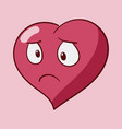 funny cartoon heart character emotions st vector image vector image
