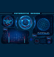 futuristic graphic interface hud design vector image vector image