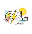geometric modern lettring girl power vector image vector image