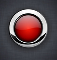 Glossy 3d red button vector image vector image