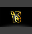 gold black alphabet letter ys y s logo vector image vector image