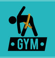 gym measuring tape lose weight vector image