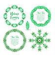 hand drawn set green eco organic vegan vector image vector image
