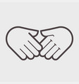 hand shake gesture symbol agreement vector image