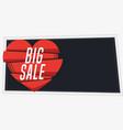 horizontal big sale banner in vintage style vector image