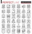 household appliances outline mini concept symbols vector image vector image