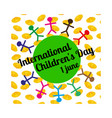 international children s day concept vector image vector image
