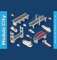 isometric models ships vector image