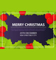 merry christmas invitation card concept background vector image