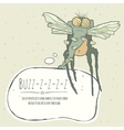 monster fly with long legs wings and vector image vector image