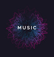 music poster abstract background with vector image vector image