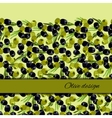 olives design background vector image vector image