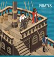 pirates isometric vector image