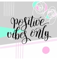 positive vibes only handwritten positive vector image vector image