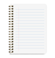 Realistic Notebook Size A5 with Line Isolated On vector image