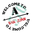 San Juan stamp vector image vector image