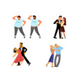 set dancing couples vector image vector image
