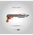 Shotgun Gun for virtual reality system vector image vector image