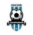 soccer championship logo vector image vector image