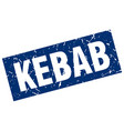 square grunge blue kebab stamp vector image vector image