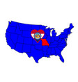 state of missouri vector image vector image