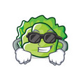 super cool lettuce character cartoon style vector image vector image