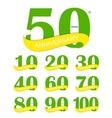 Template Logo 30th Anniversary vector image