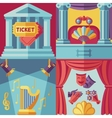 Theatre acting concept background in flat vector image vector image