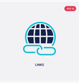two color links icon from e-learning concept vector image
