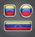 Venezuela flag glass buttons vector image vector image