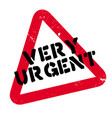 very urgent rubber stamp vector image vector image