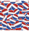 Vote USA pins pattern vector image vector image